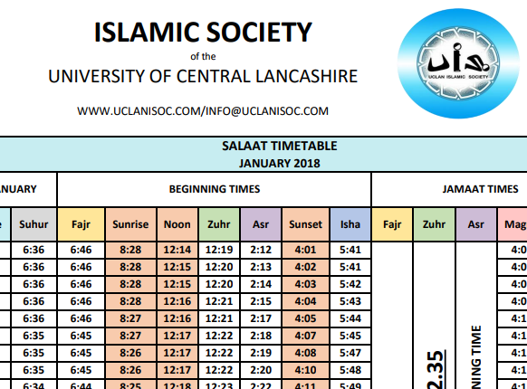 Timetable Image